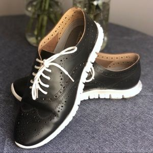 Cole Haan Zero Grand Leather Oxfords, Size 7.5